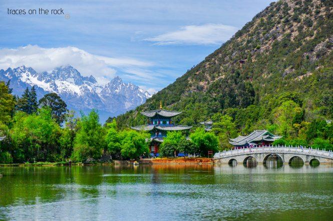 Black Dragon Pool Park View in Lijiang