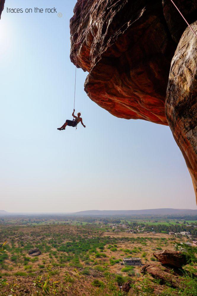 Rock climbing in Badami