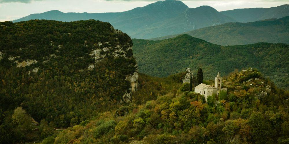 View from the rock Falesia delle Silenzio