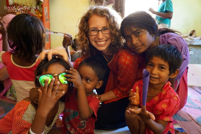 Hanging around with the kids of a local jewelery maker