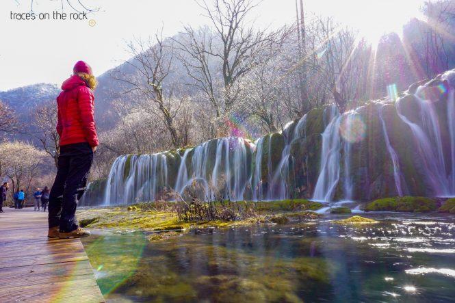 Waterfall in Jiuzhaigou National Park in China