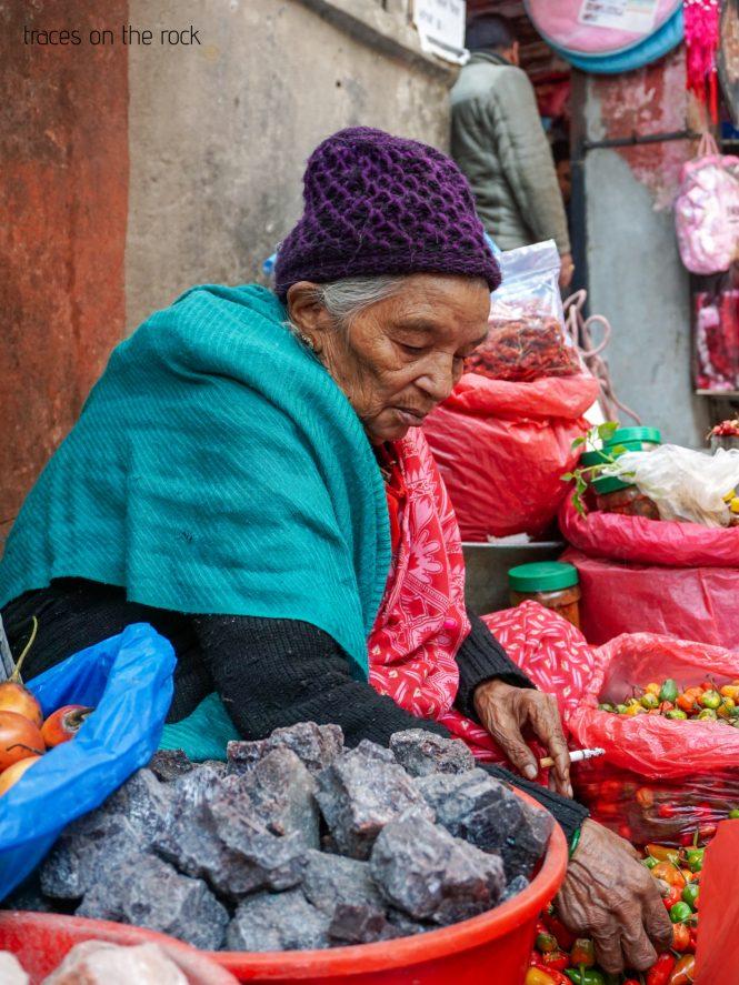 Street vendor in Kathmandu