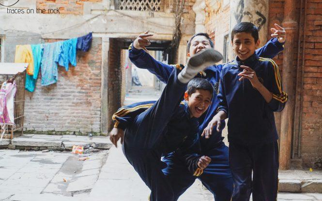 School students in Kathmandu