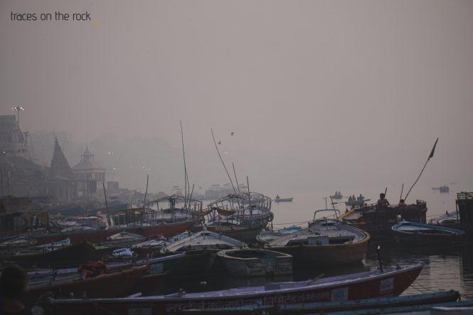 Scenes from a ghat at the Ganga River