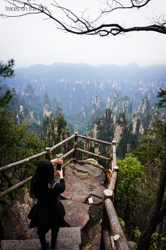 Misty view in Wulingyuan Scenic and Historiy Interest Area